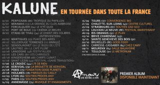 Dates de tournée Kalune